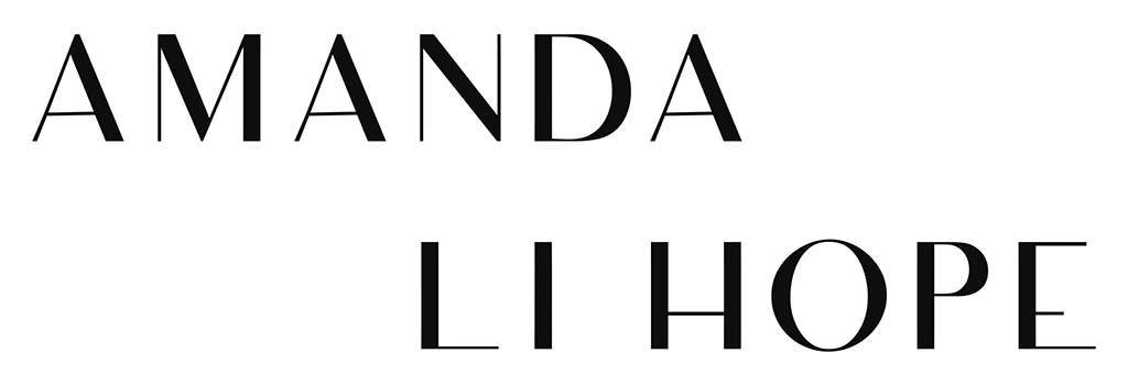 Logo of Amanda Li Hope . Black text, white background.